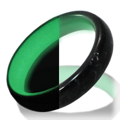 Glow in the dark titanium ring Glowing Rings Carbon 6 carbon fiber Wedding Ring for men women engagement green luminescent lume rings bands