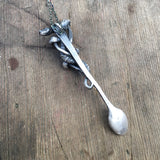 Spoon necklace with snake