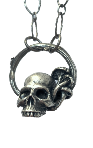 skull and mushroom necklace