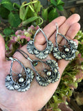 split gill mushroom earrings