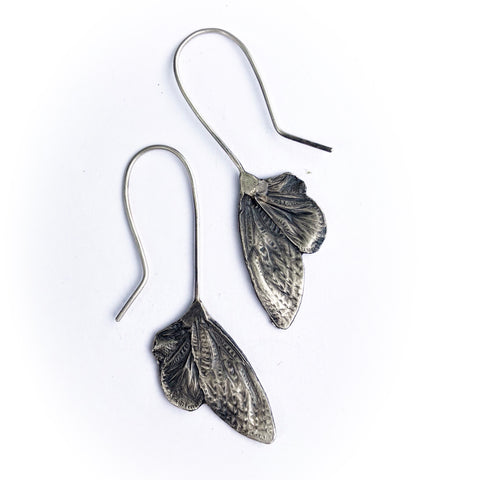 Small cicada wing earrings