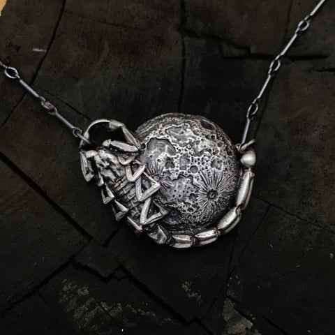 Scorpion full moon necklace