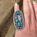 Scorpion turquoise statement ring reserve for shannon
