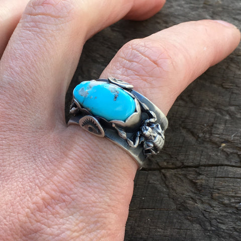 Double scorpling and turquoise ring