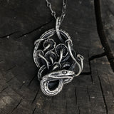 Serpent and mushrooms necklace PRESALE