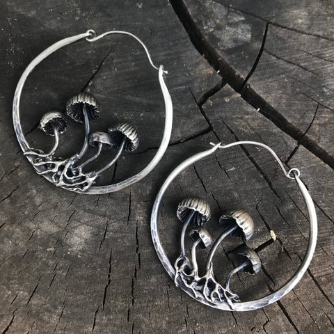 mushroom hoop earrings PRESALE