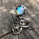 Scorpion and opal ring