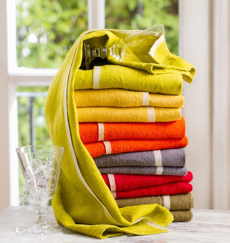 Chunky Linen Hand Towels, Set of 2