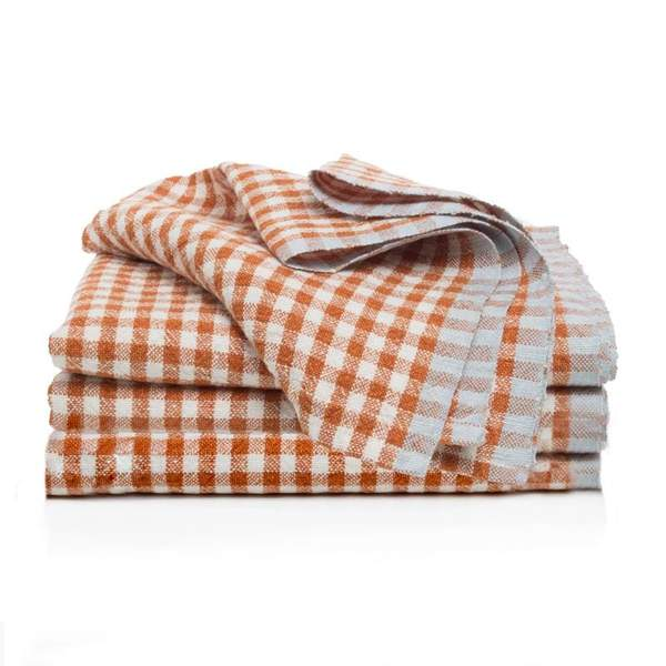 Two-Tone Gingham Napkins, Set of 4