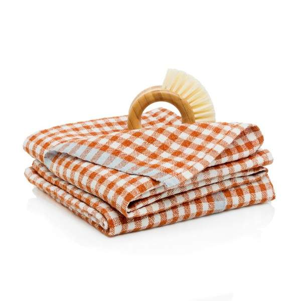 Two-Tone Gingham Towels, Set of 2