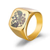 Eagle Stainless Steel Ring - Gold