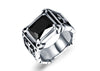 Punk Cubic Zirconia Ring - Black