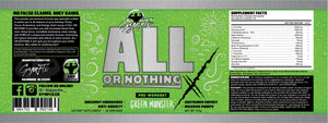 All or Nothing X: Complete Pre-workout