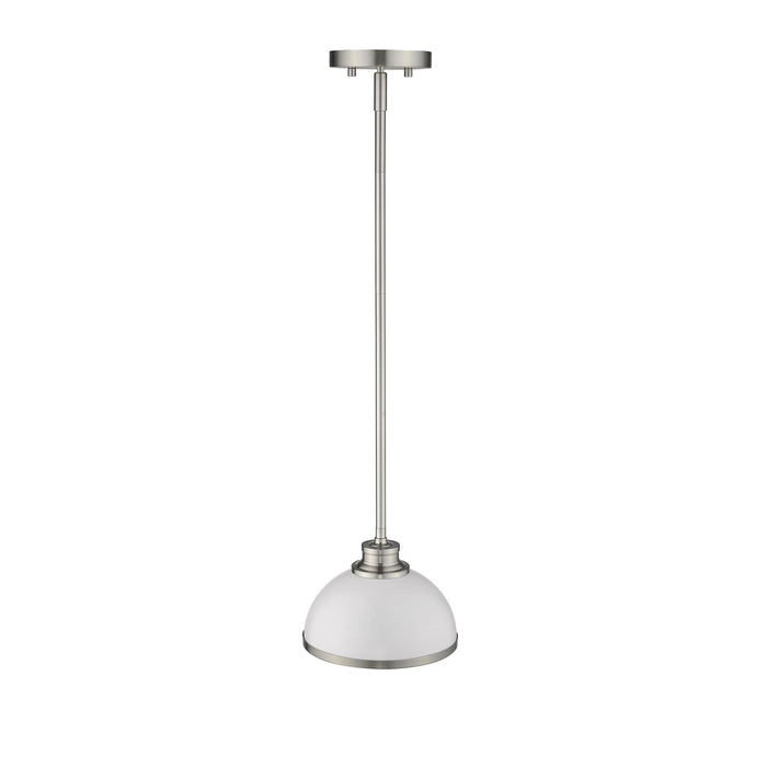 Z-Lite Citadel Brushed Nickel Mini-Pendant 1930MP-HWH+BN
