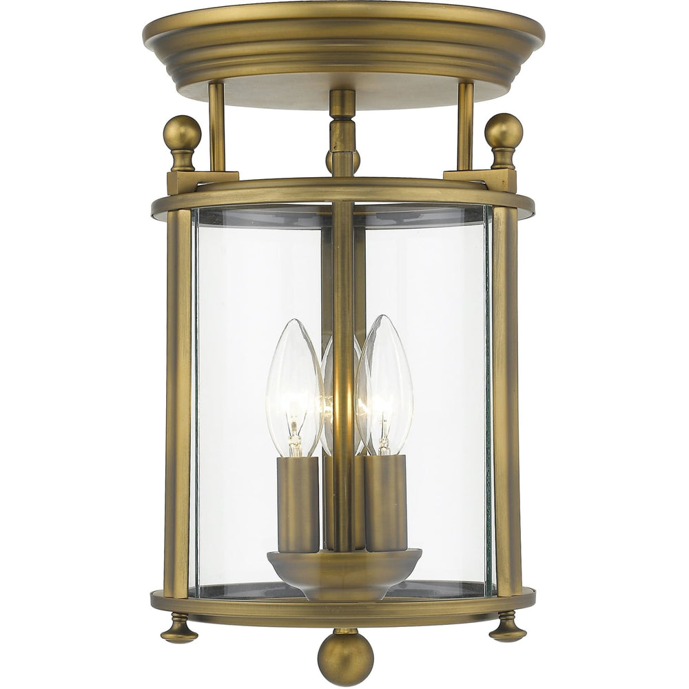 Wyndham Heirloom Brass Flush Mount - Flush Mount