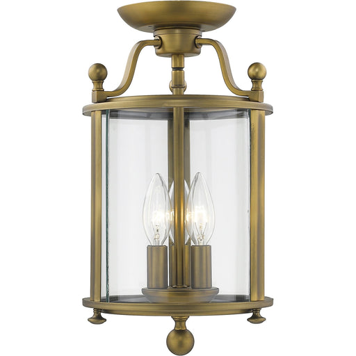 Wyndham Heirloom Brass Semi Flush Mount - Semi Flush Mount
