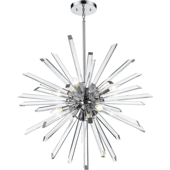 Burst Chrome Chandelier - Chandelier