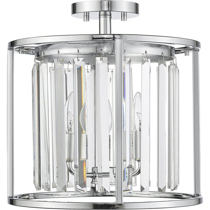 Monarch Chrome Semi Flush Mount - Semi Flush Mount