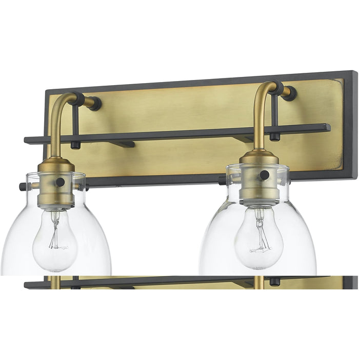 Kraken Matte Black and Olde Brass Wall Sconce - Wall Sconce