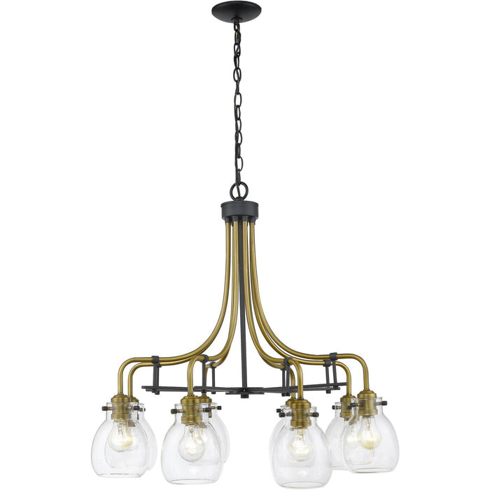 Kraken Matte Black and Olde Brass Chandelier - Chandelier