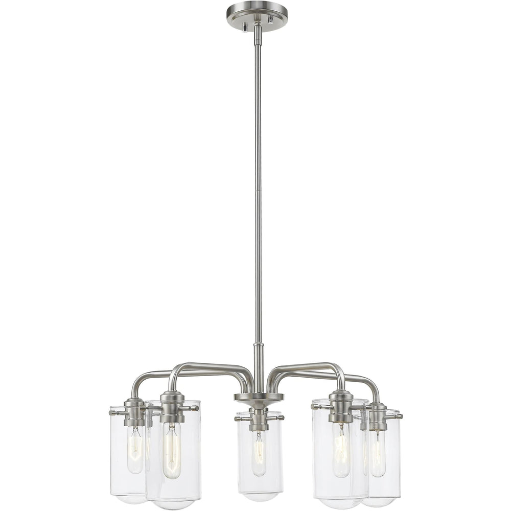 Delaney Brushed Nickel Chandelier - Chandelier