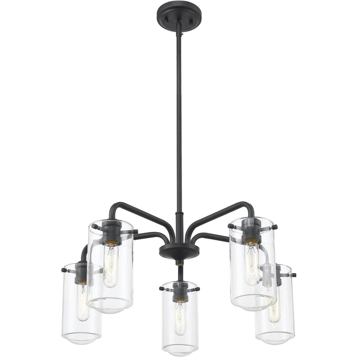 Delaney Matte Black Chandelier - Chandelier