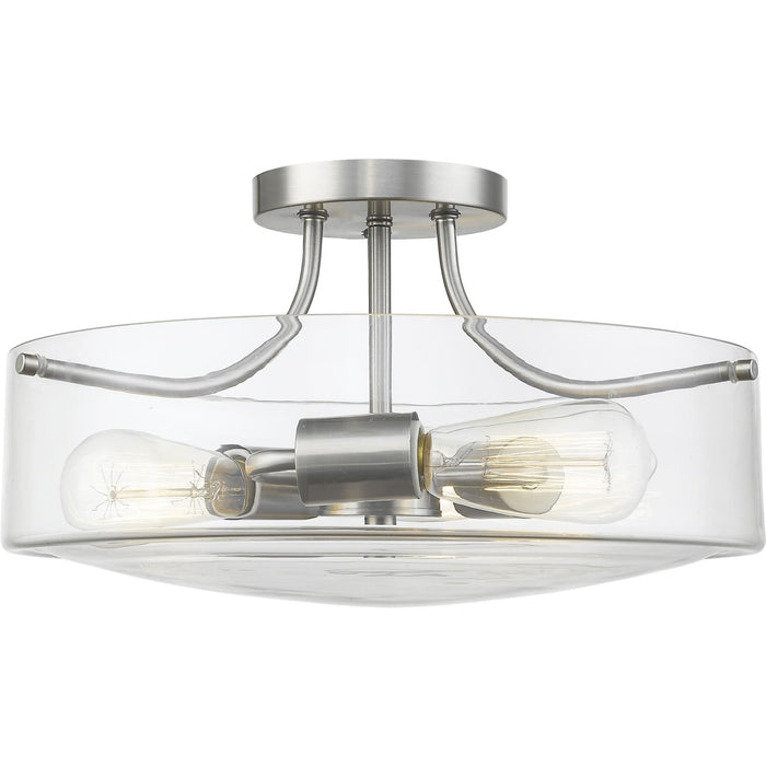 Delaney Brushed Nickel Semi Flush Mount - Semi Flush Mount