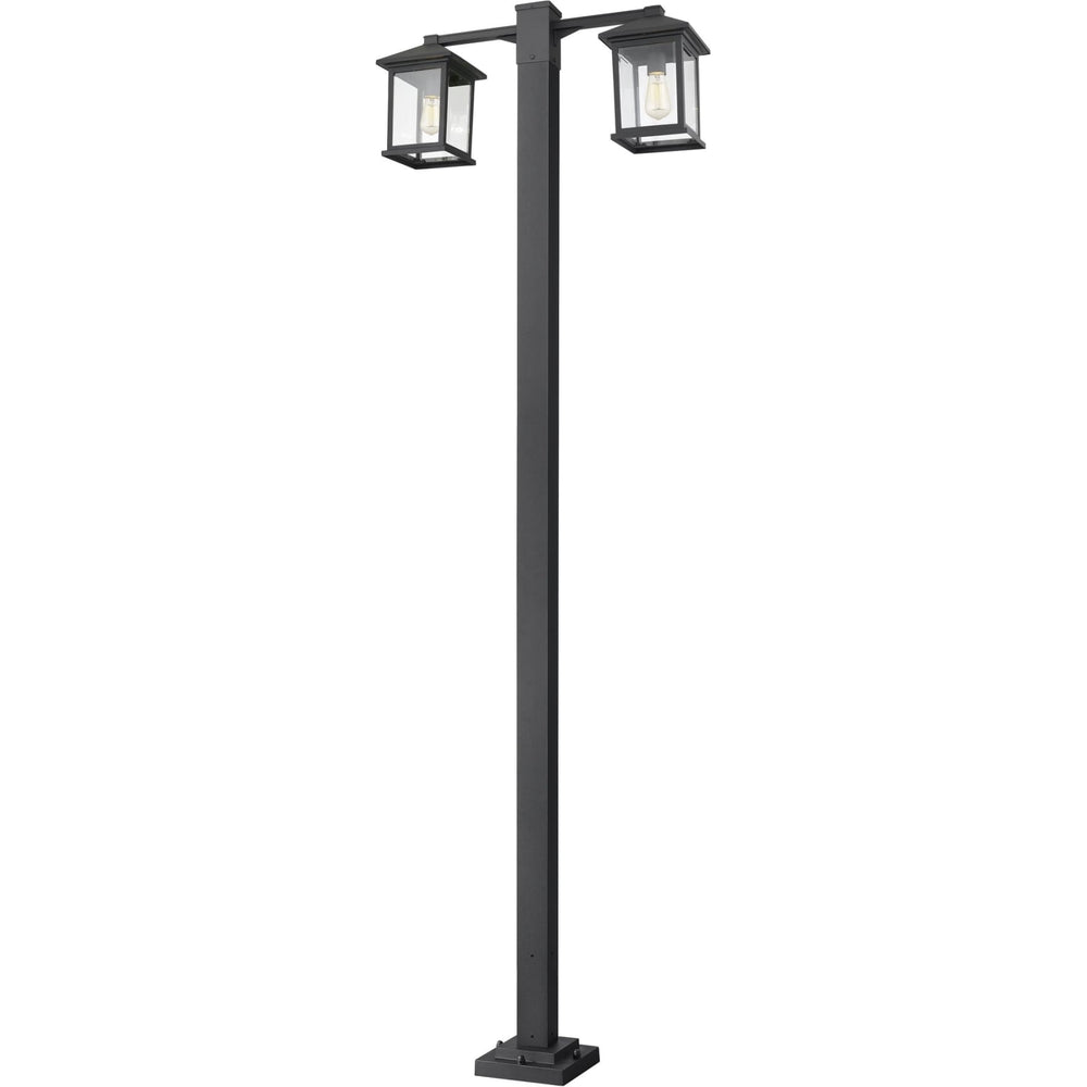 Portland Black Outdoor Post Mounted Fixture - Outdoor Post Mounted Fixture