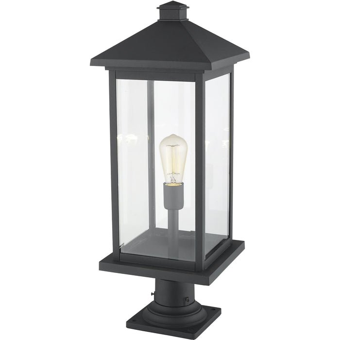 Portland Black Outdoor Pier Mounted Fixture - Outdoor Pier Mounted Fixture