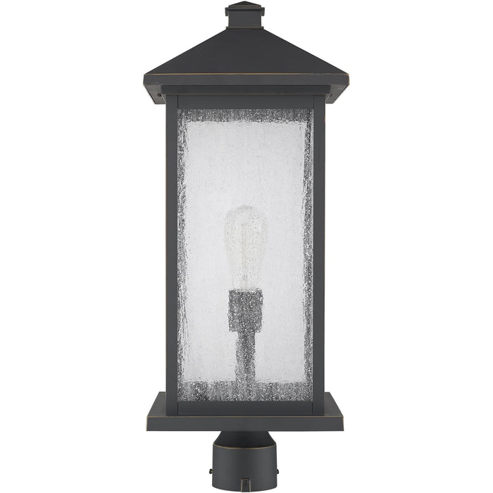 Portland Oil Rubbed Bronze Outdoor Post Mount Fixture - Outdoor Post Mount Fixture