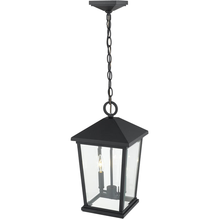 Beacon Black Outdoor Chain Mount Ceiling Fixture - Outdoor Chain Mount Ceiling Fixture