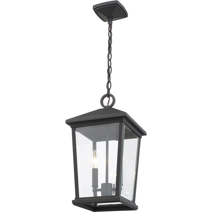 Beacon Oil Rubbed Bronze Outdoor Chain Mount Ceiling Fixture - Outdoor Chain Mount Ceiling Fixture