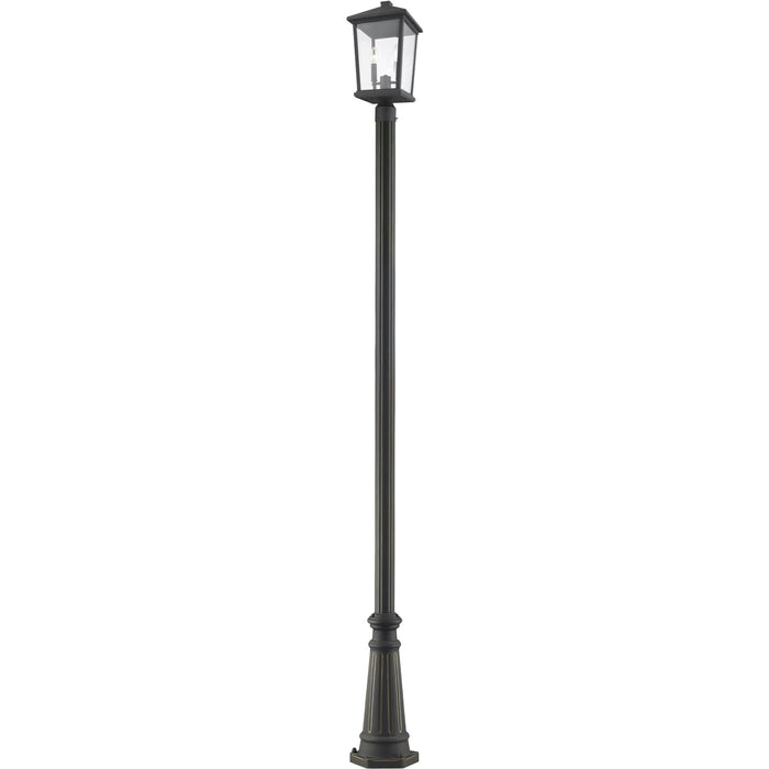 Beacon Oil Rubbed Bronze Outdoor Post Mounted Fixture - Outdoor Post Mounted Fixture