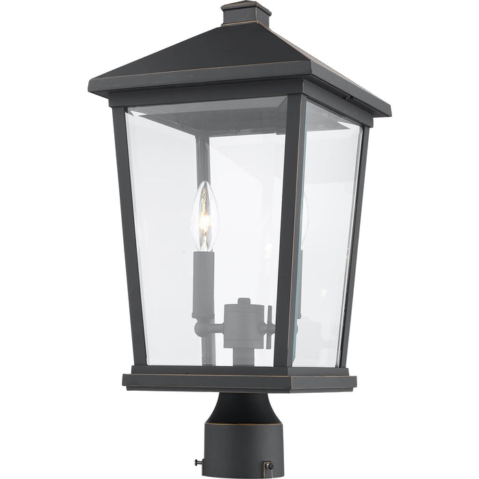 Beacon Oil Rubbed Bronze Outdoor Post Mount Fixture - Outdoor Post Mount Fixture