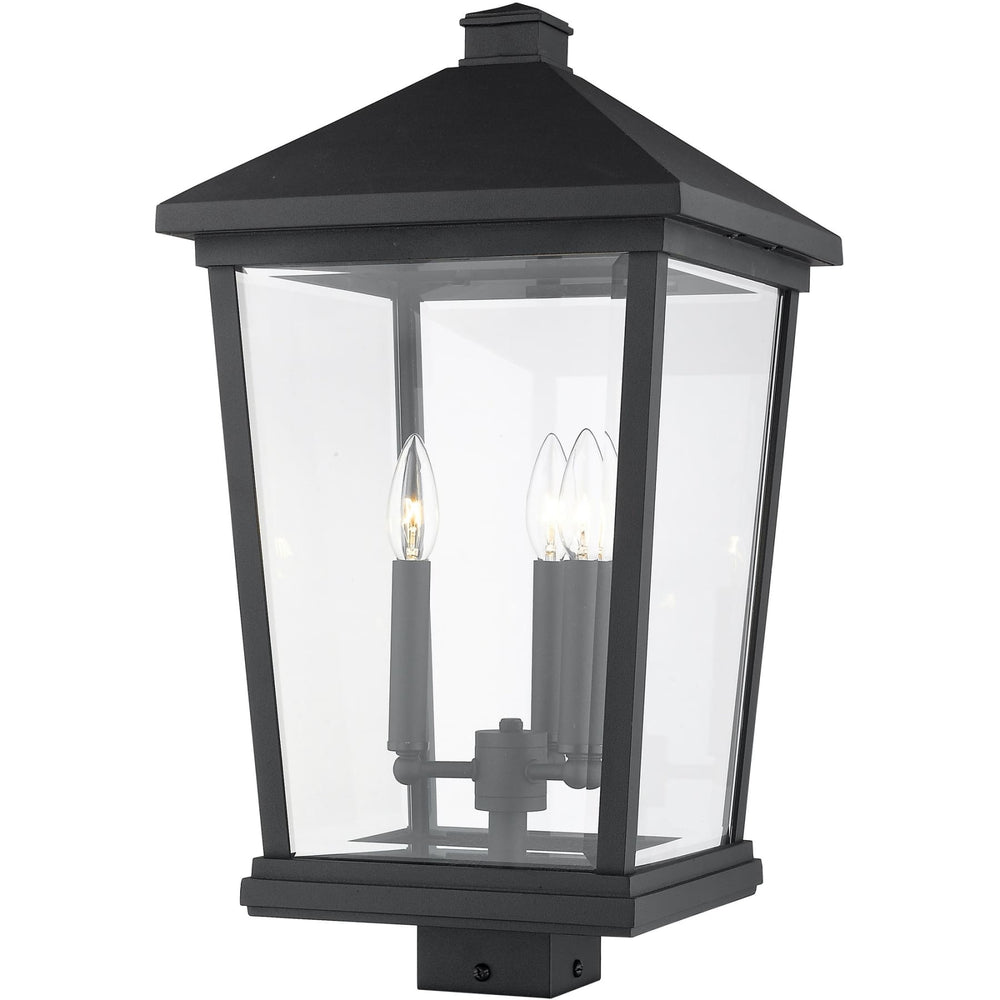 Beacon Black Outdoor Post Mount Fixture - Outdoor Post Mount Fixture