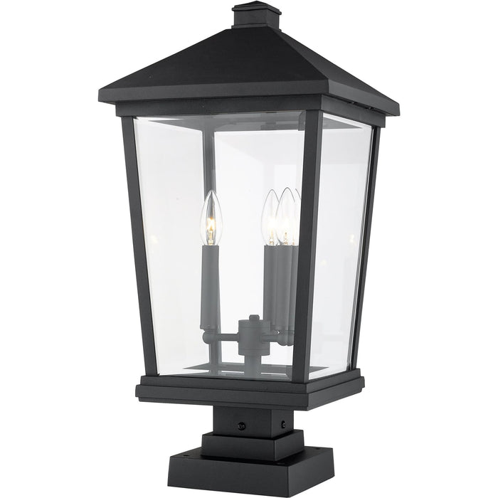 Beacon Black Outdoor Pier Mounted Fixture - Outdoor Pier Mounted Fixture