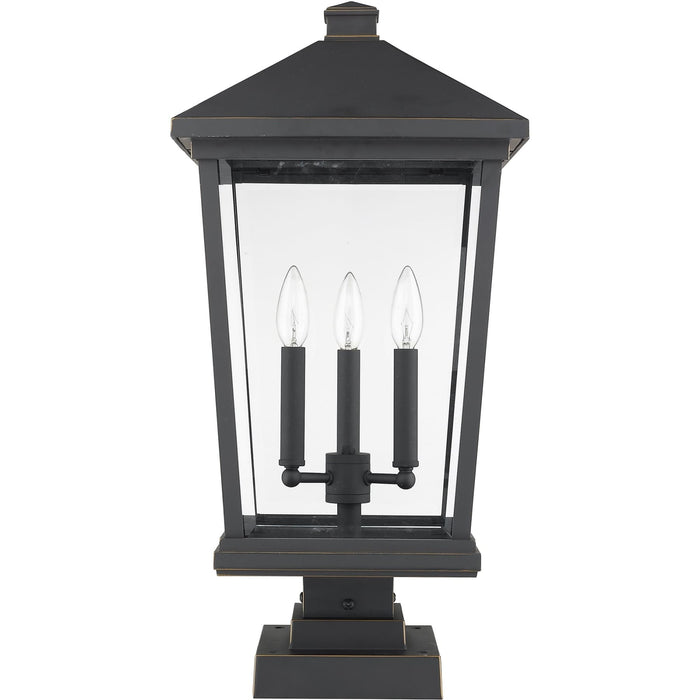 Beacon Oil Rubbed Bronze Outdoor Pier Mounted Fixture - Outdoor Pier Mounted Fixture