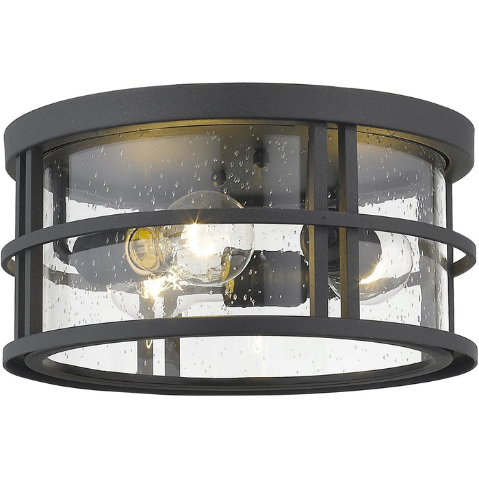 Jordan Black Outdoor Flush Ceiling Mount Fixture - Outdoor Flush Ceiling Mount Fixture