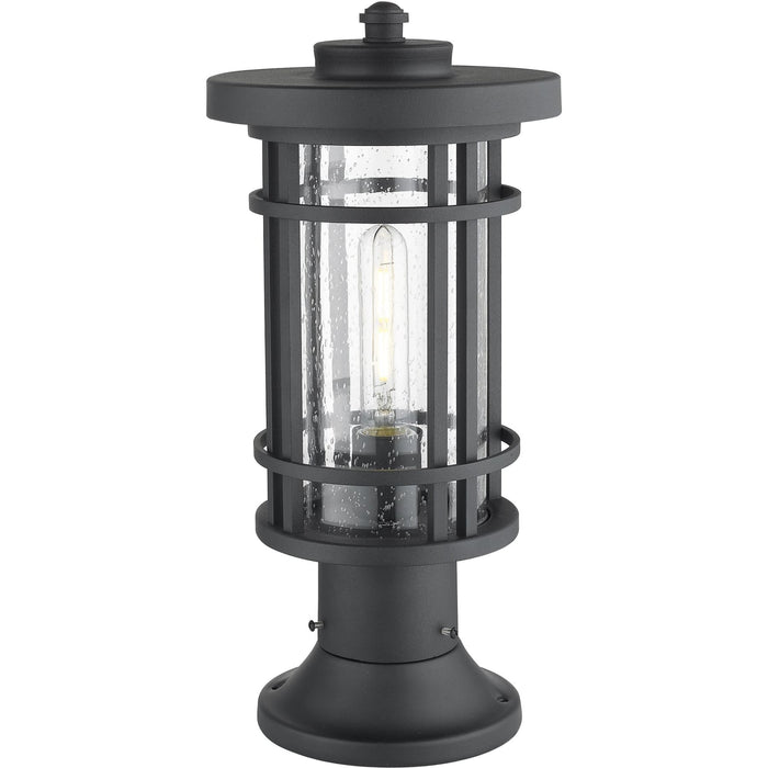 Jordan Black Outdoor Pier Mounted Fixture - Outdoor Pier Mounted Fixture
