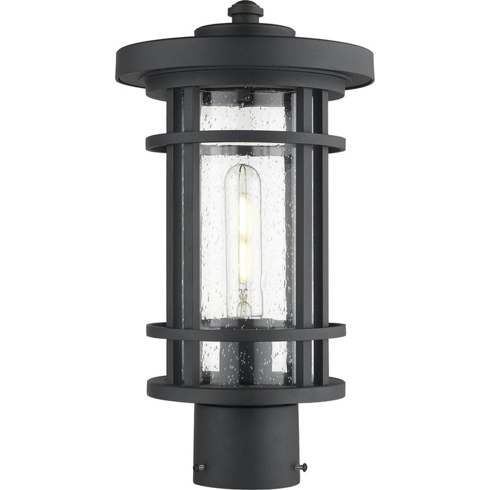 Jordan Black Outdoor Post Mount Fixture - Outdoor Post Mount Fixture