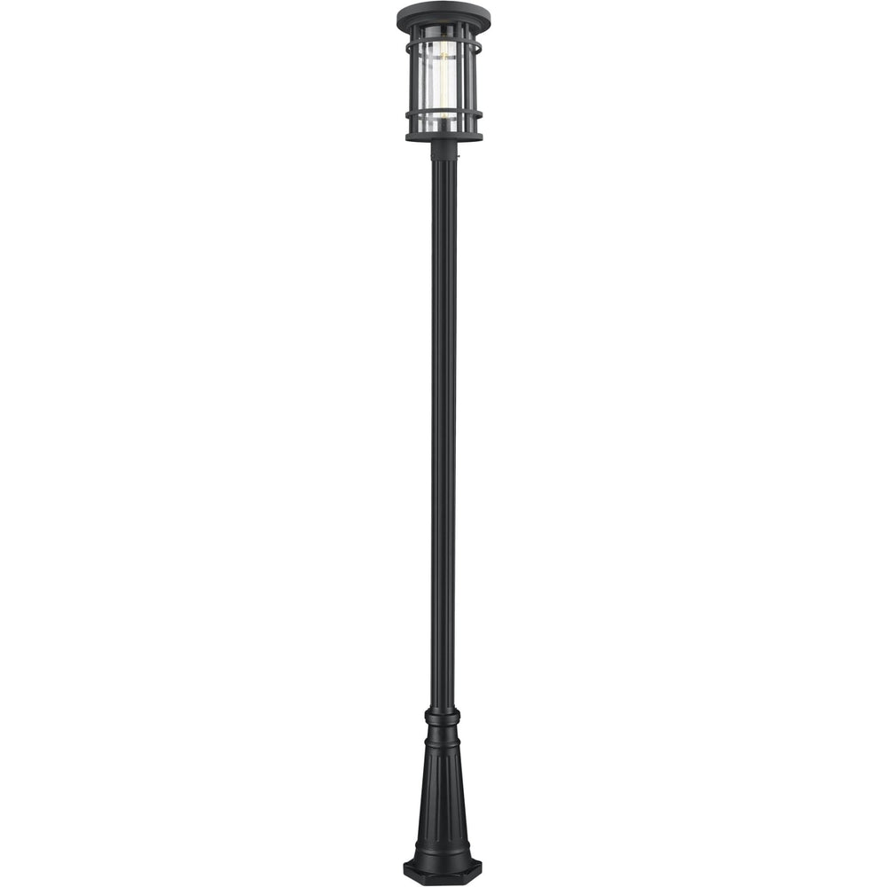 Jordan Black Outdoor Post Mounted Fixture - Outdoor Post Mounted Fixture