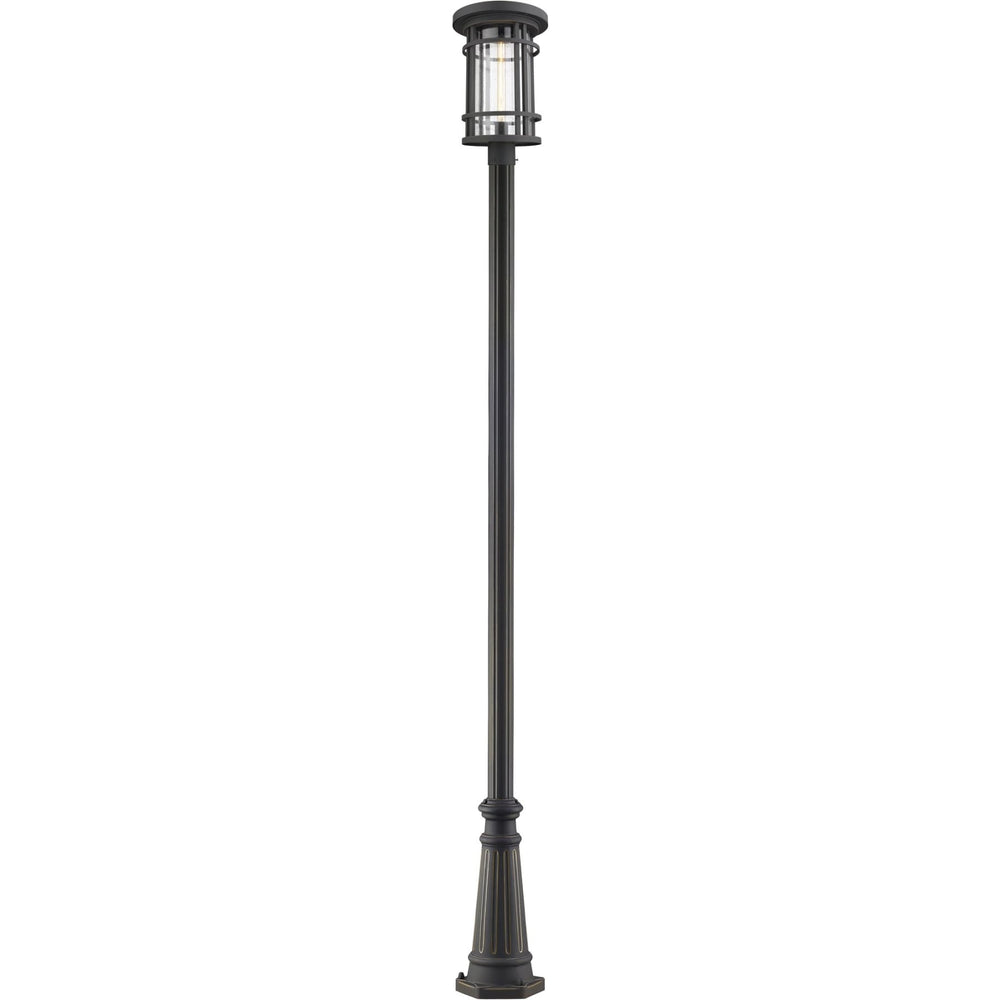 Jordan Oil Rubbed Bronze Outdoor Post Mounted Fixture - Outdoor Post Mounted Fixture