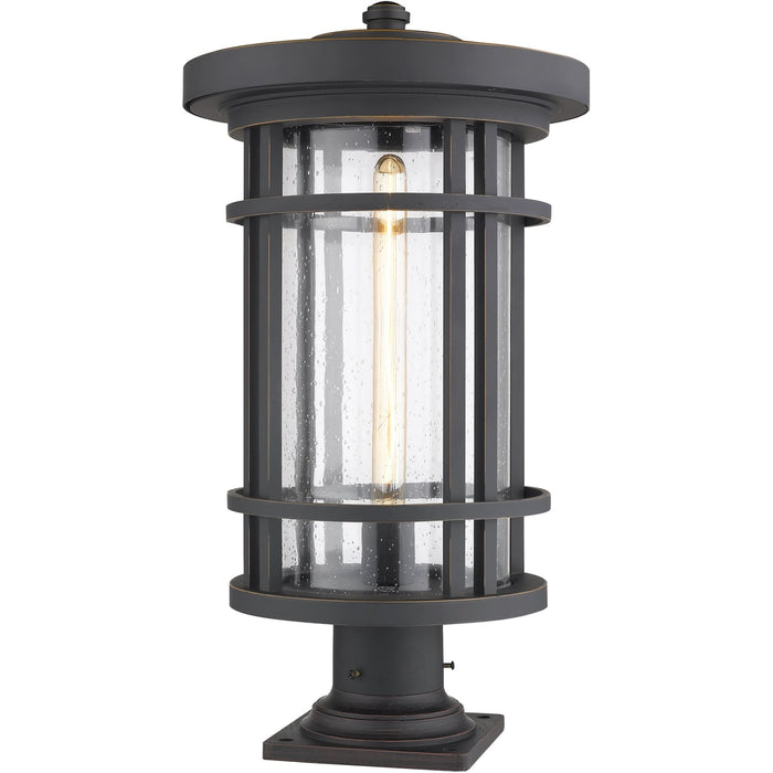 Jordan Oil Rubbed Bronze Outdoor Pier Mounted Fixture - Outdoor Pier Mounted Fixture