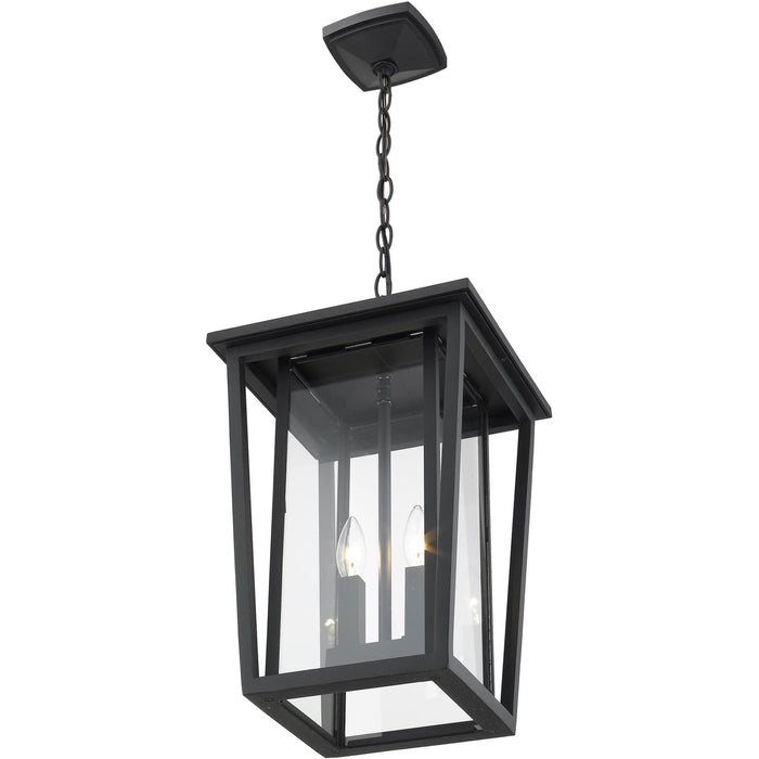 Seoul Black Outdoor Chain Mount Ceiling Fixture - Outdoor Chain Mount Ceiling Fixture