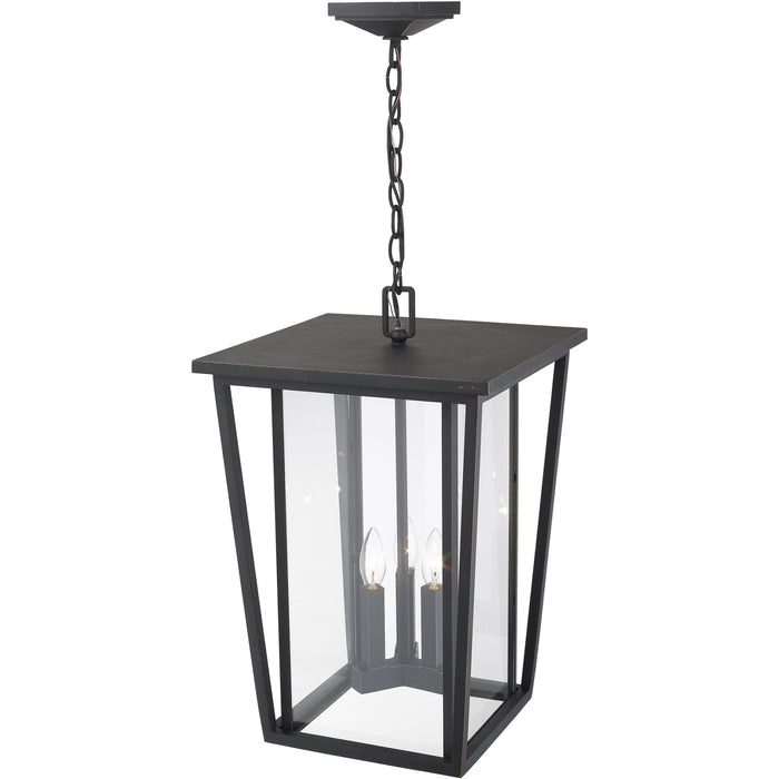 Seoul Oil Rubbed Bronze Outdoor Chain Mount Ceiling Fixture - Outdoor Chain Mount Ceiling Fixture