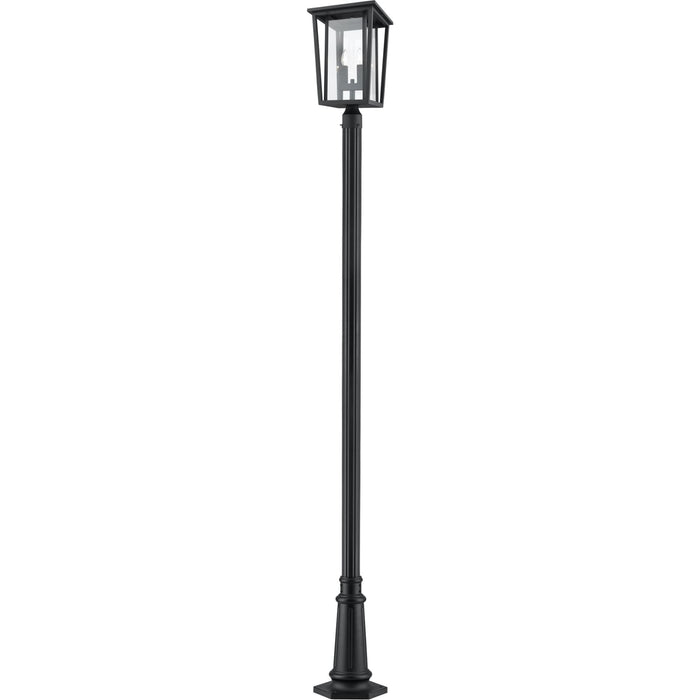 Seoul Black Outdoor Post Mounted Fixture - Outdoor Post Mounted Fixture