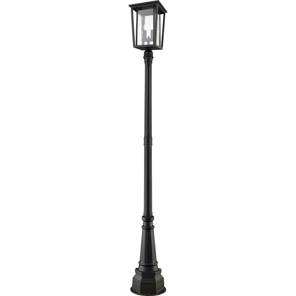 Seoul Oil Rubbed Bronze Outdoor Post Mounted Fixture - Outdoor Post Mounted Fixture