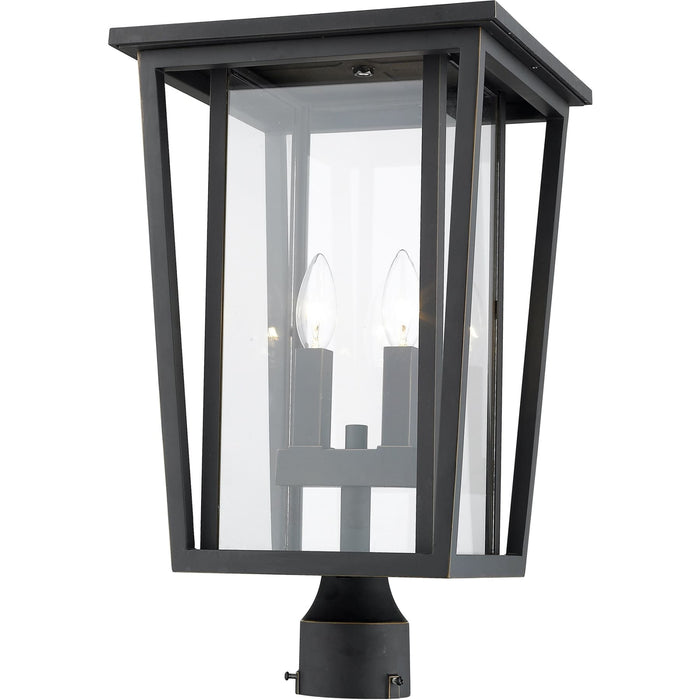 Seoul Oil Rubbed Bronze Outdoor Post Mount Fixture - Outdoor Post Mount Fixture