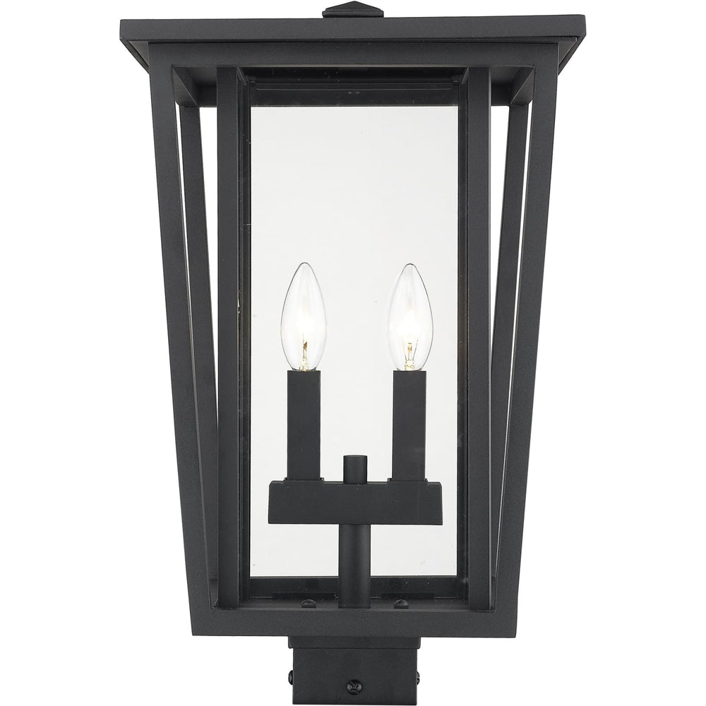 Seoul Black Outdoor Post Mount Fixture - Outdoor Post Mount Fixture