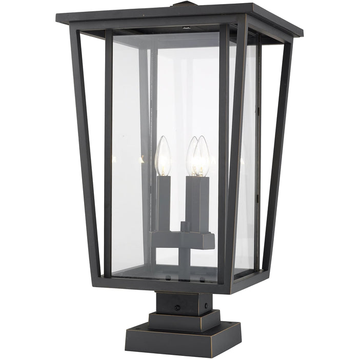 Seoul Oil Rubbed Bronze Outdoor Pier Mounted Fixture - Outdoor Pier Mounted Fixture